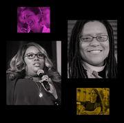 Eyewear, Face, Glasses, Nose, Vision care, Photograph, Microphone, Facial expression, Portrait, Laugh,