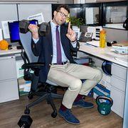 billy eichner desk workout