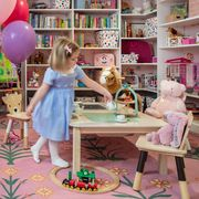 parker bowie larson's daughter playing in her new playroom