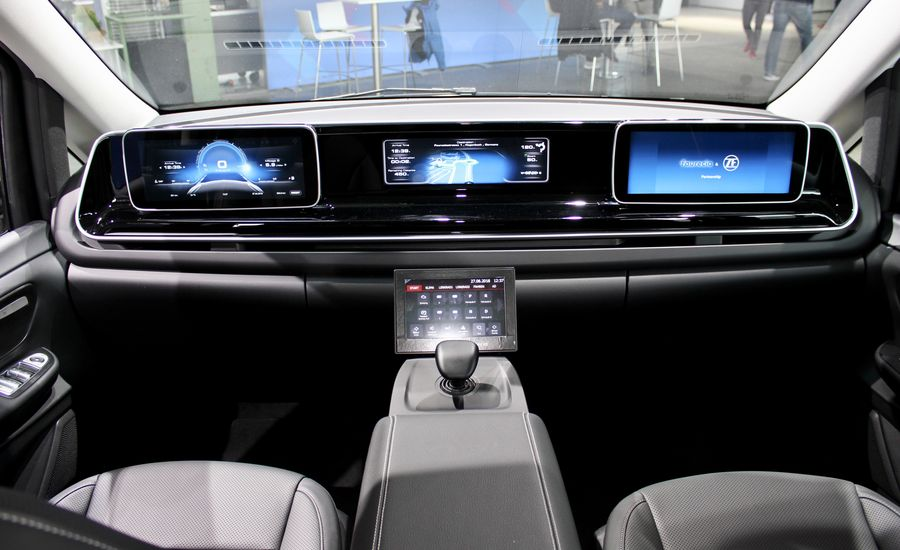 this car cockpit of the future features joystick control. Black Bedroom Furniture Sets. Home Design Ideas