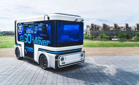 ZF and e.Go Debut Electric and Autonomous Minibus Concept, the e.Go Mover
