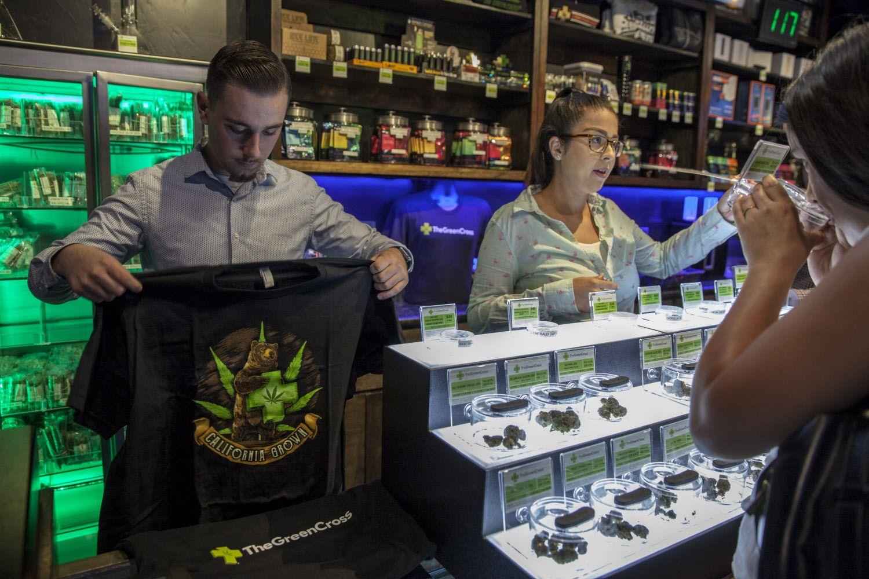 cannabis dispensary merchandise green cross