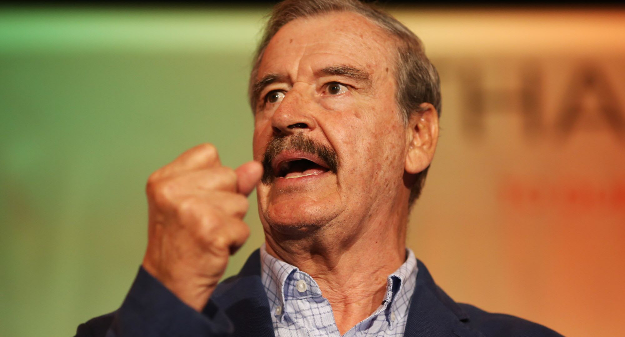 Former Mexican President Vicente Fox delivers keynote remarks at the National Cannabis Industry Association's annual conference on Tuesday, June 13, 2017 in Oakland, Calif.