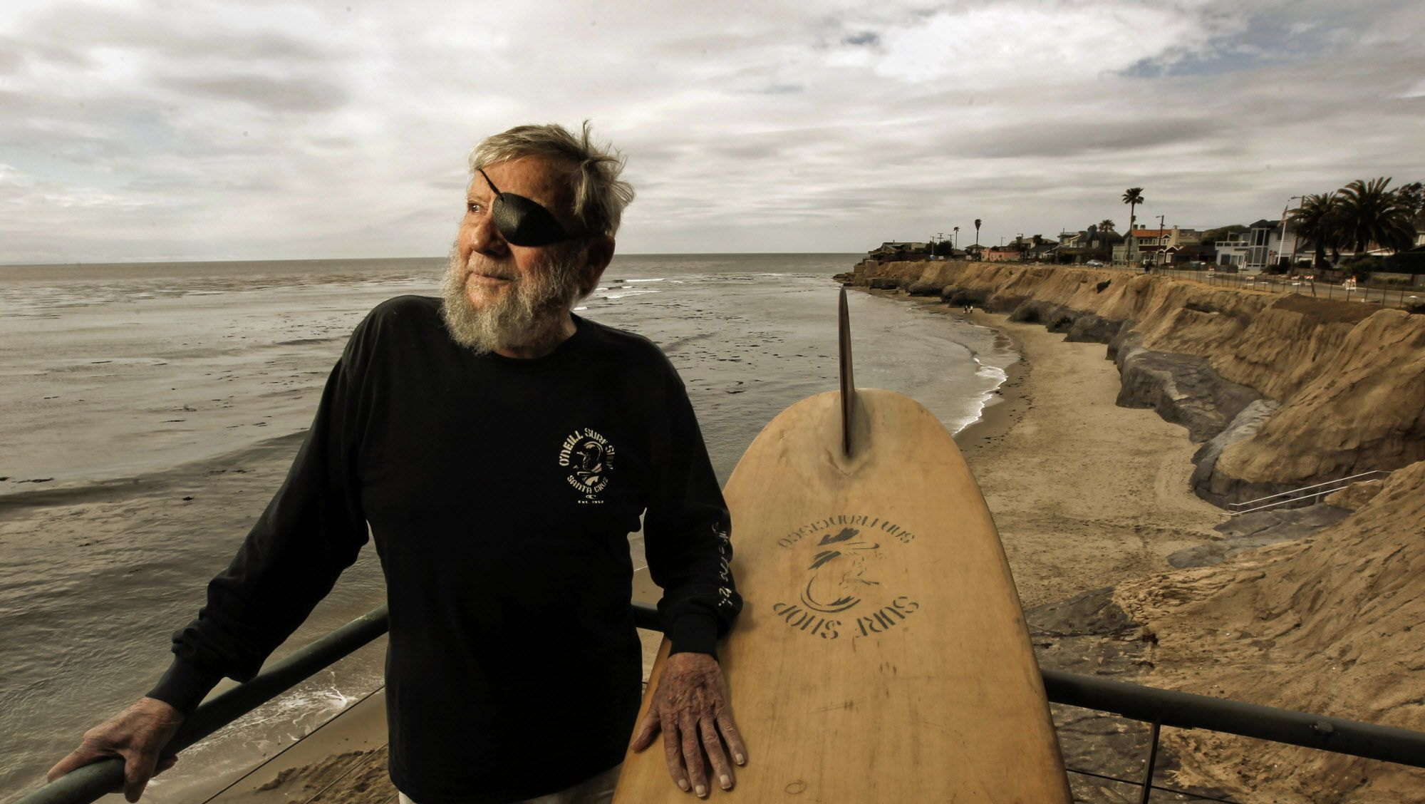 Surf industry pioneer,, Jack O'Neill  at his cliff-side home in Santa Cruz,Ca., on Thursday April 26, 2012.