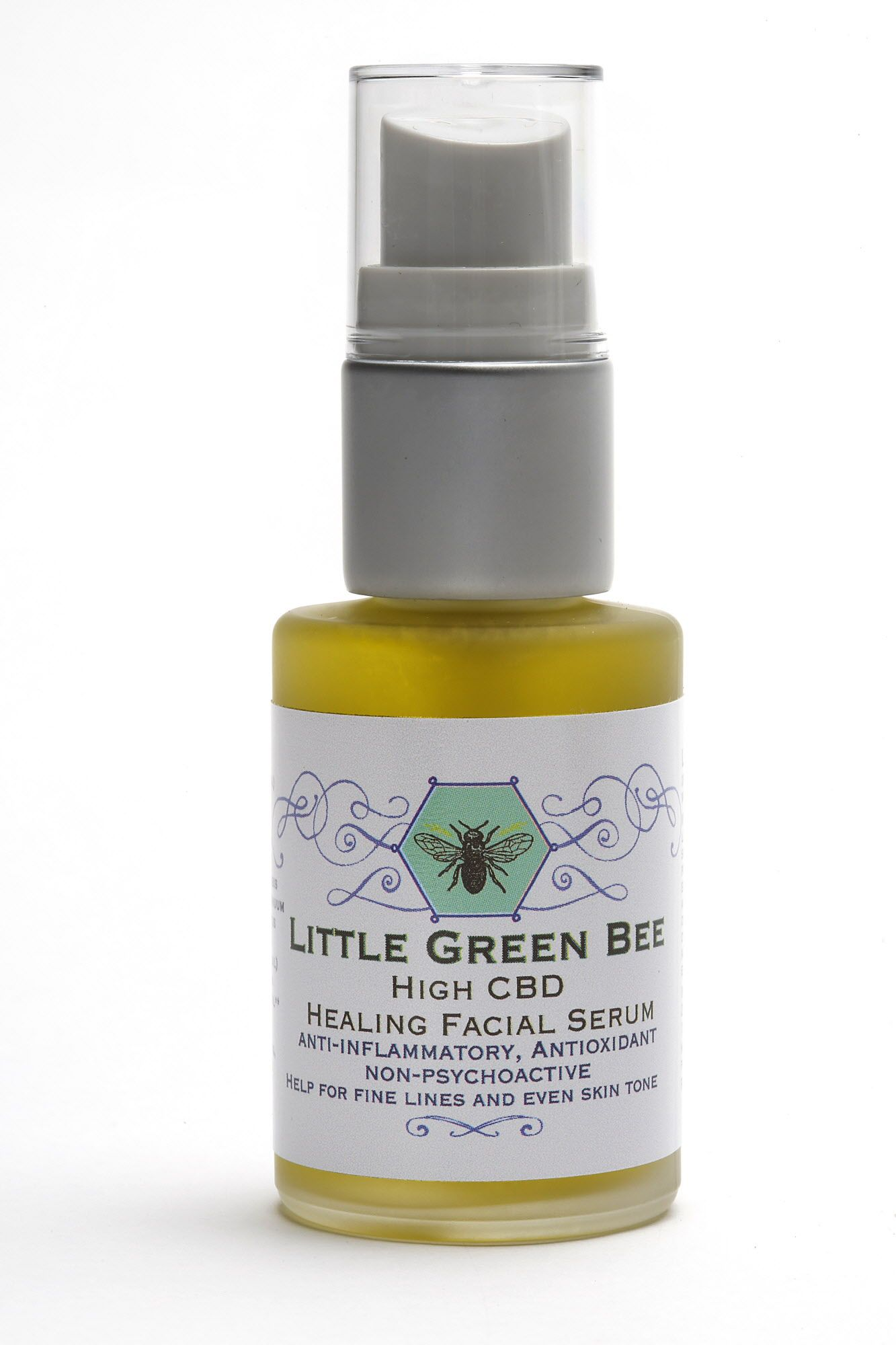 'Little Green Bee', a healing facial serum high in CBD on Wednesday, June 7, 2017, in San Francisco, Calif.