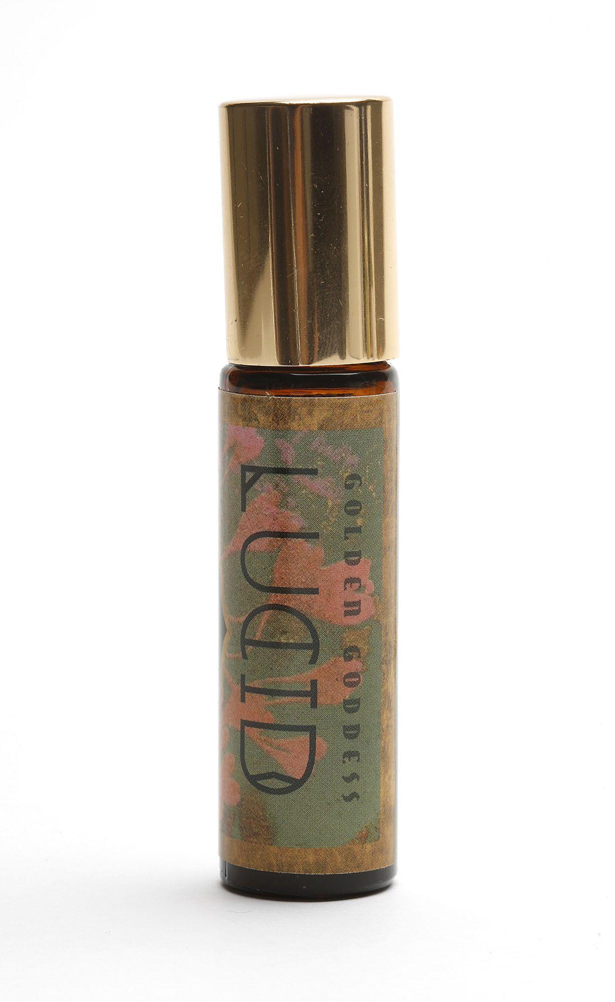 Golden Goddess Lucid perfume, an aromatherapy blend--bright, vibrant, joyful-- on Wednesday, June 7, 2017, in San Francisco, Calif.