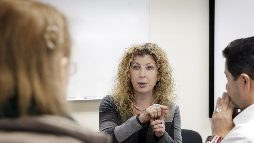 Dr. Bonni Goldstein, chats with two attendees during a break in an all day medical marijuana course at Northstate University College of Medicine in Elk Grove, Calif., on Sunday, January 29, 2017. Medical marijuana education leader United Patients Group partnered with respected California Northstate University College of Medicine to offer one of the first medical marijuana courses in the Nation designed and taught in conjunction with an accredited medical college. SOURCE: Carlos Avila Gonzalez