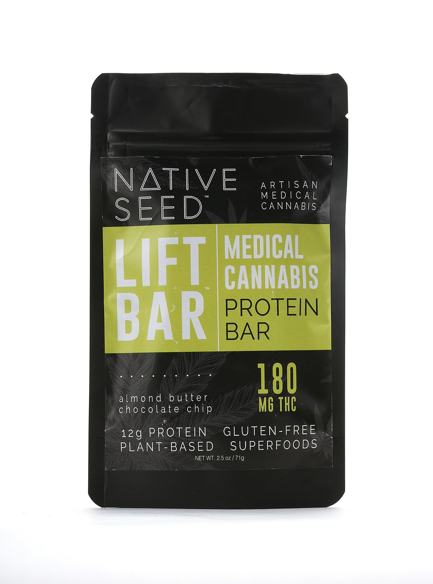 Native Seed lift bar, a medical cannabis protein bar, with 12 grams of plant based protein and 180mg thc on Monday, June 5, 2017, in San Francisco, Calif.