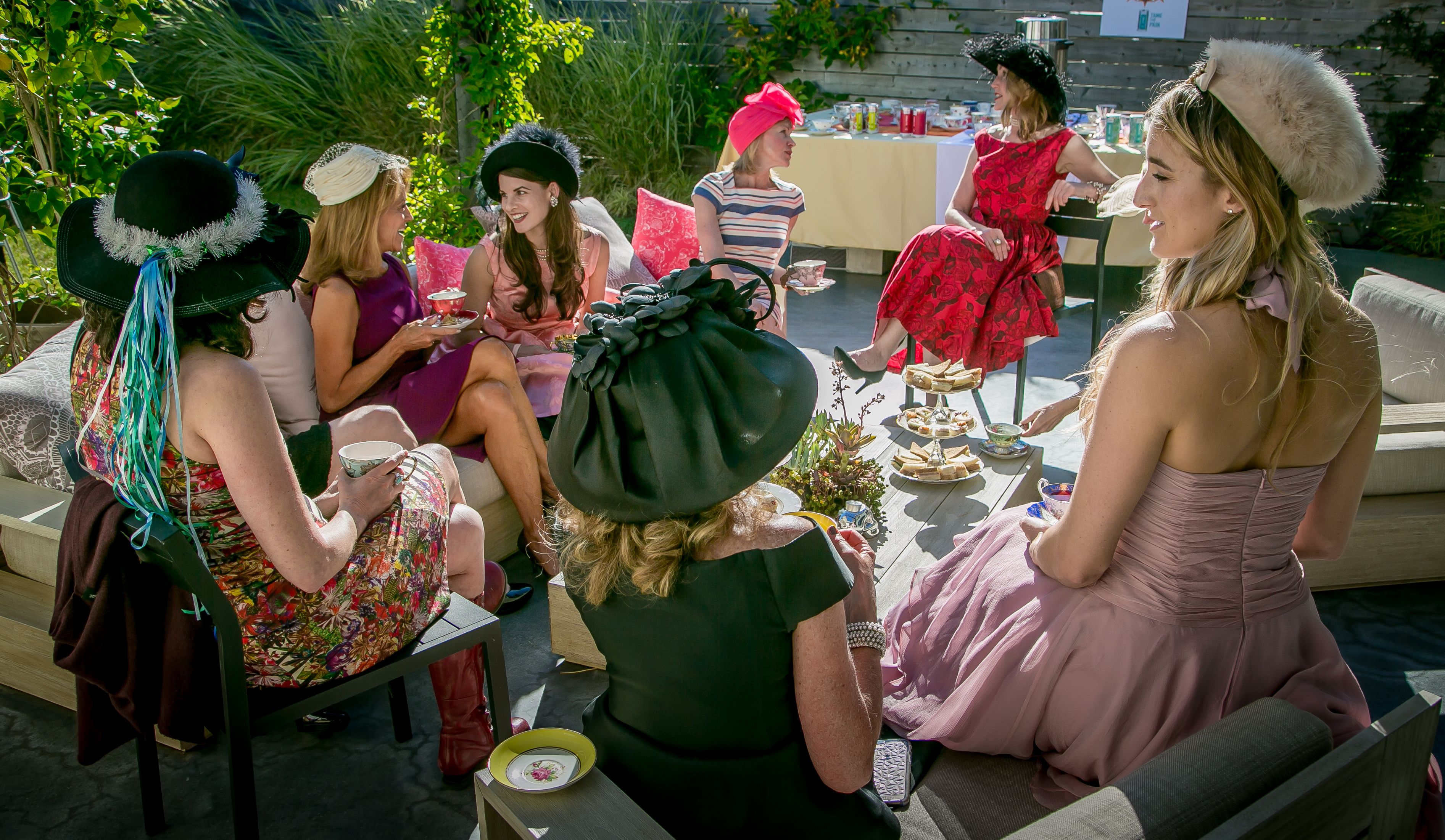 A tea party for Kikoko Cannabis Tea in Mill Valley, Calif., is seen on June 10th, 2017.