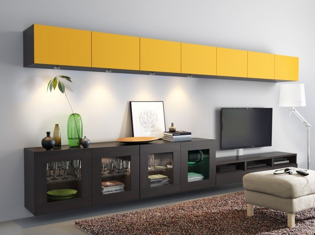 The Bright Yellow And Black Units Create A Big Impression And Thereu0027s Ample  Space To Stow Away All Your Media Paraphernalia.