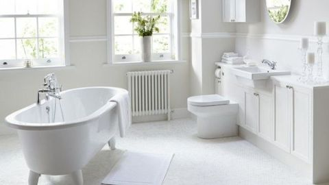 Plumbing fixture, Room, Product, Green, Floor, Property, Flooring, Interior design, Architecture, Wall,
