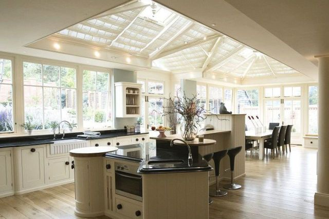 A Stunning Pitched Roof Lantern Means Every Part Of This Kitchen Extension  Has Natural Light. U0027