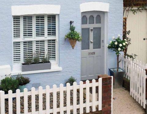 Plant, Property, House, Home fencing, Fixture, Home door, Shrub, Door, Picket fence, Fence,