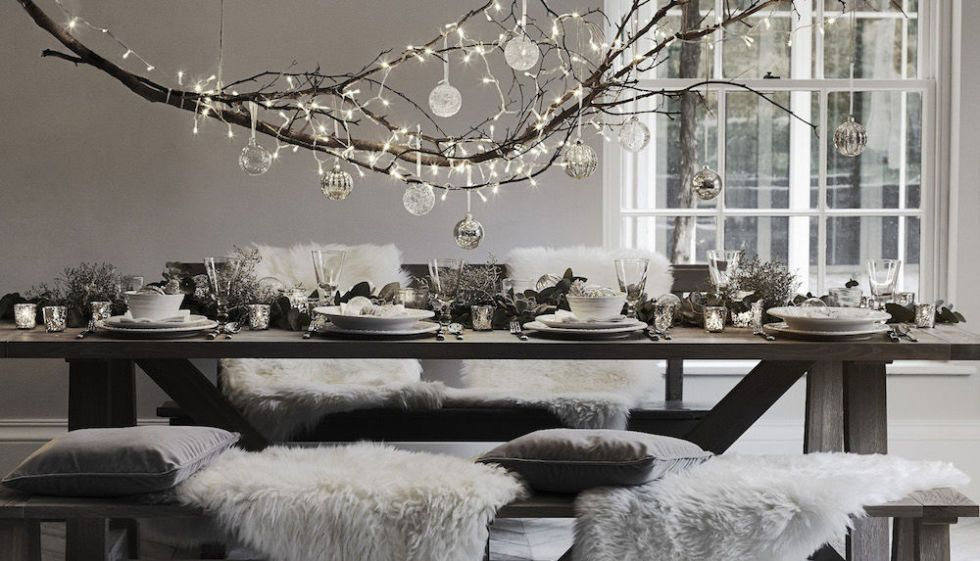 Christmas Table Setting Ideas, Winter Garden