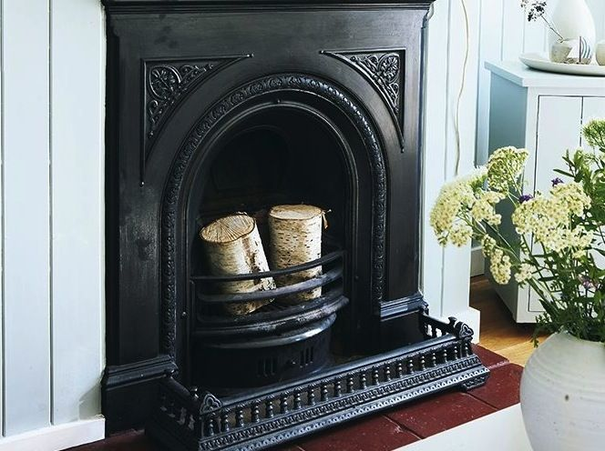 Restoring A Cast Iron Fireplace, How To Clean Cast Iron Fireplace Grate