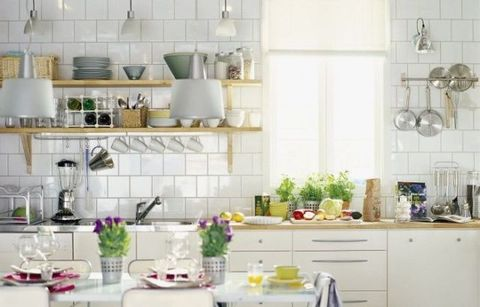 Room, Green, Serveware, Dishware, Kitchen, Cabinetry, Grey, Porcelain, Countertop, Drawer,