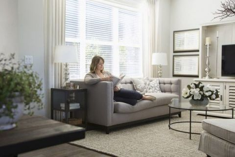 Room, Interior design, Living room, Floor, Home, Flooring, Wall, Furniture, White, Couch,