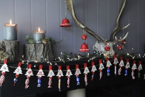 Interior design, Interior design, Decoration, Antler, Tradition, Light fixture, Ornament, Holiday, Candle, Christmas,