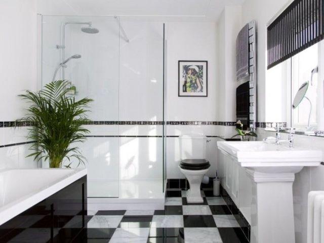 Black White Art Deco Bathroom Best Interior Furniture