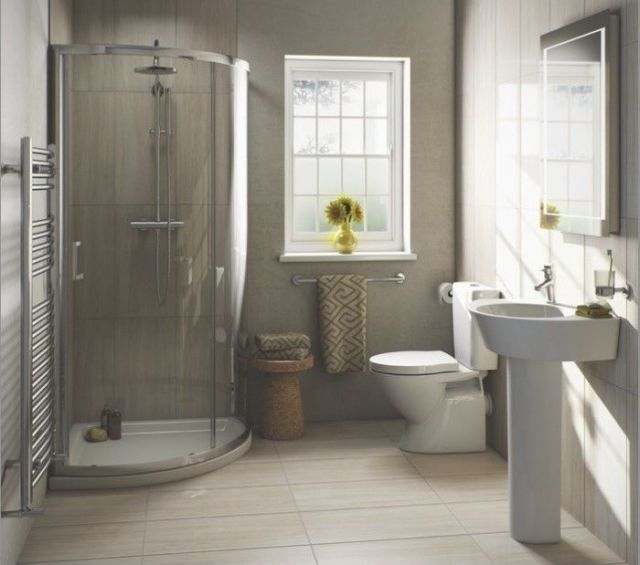 small 4 piece bathroom. Expand the space in a small bathroom with these expert tips from Adam  Chard Bathroom Consultant at VictoriaPlum com 4 for bathrooms
