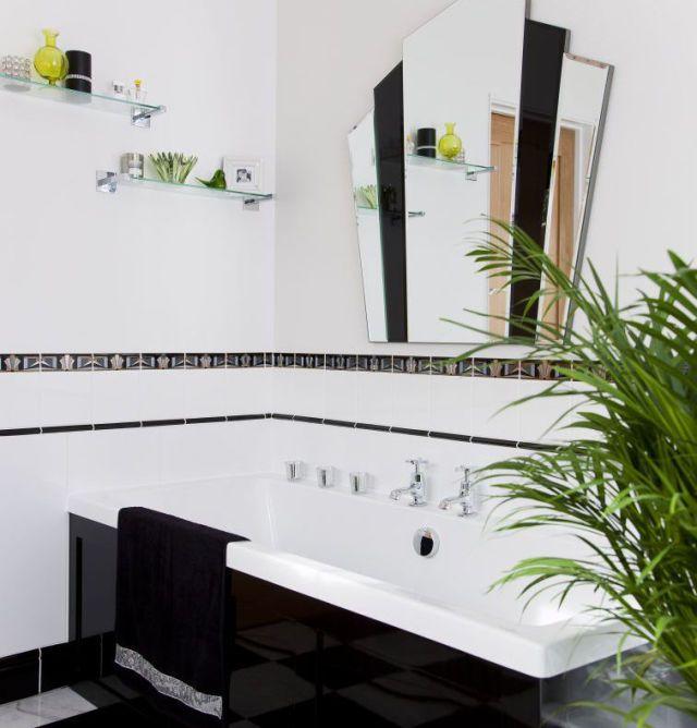 Art deco bathroom makeover