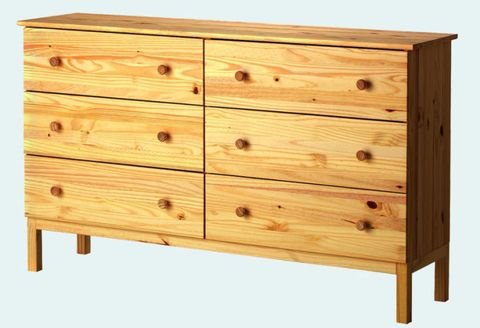 Before Tarva Six Drawer Untreated Pine Chest 125 Ikea