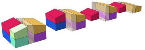 Line, Rectangle, Magenta, Square, Toy block, Puzzle,