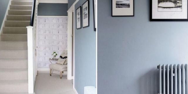 Glamorous blue hallway - photo#38