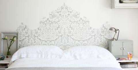 Room, Textile, Wall, Interior design, Linens, Interior design, Grey, Bedding, Home, Bedroom,