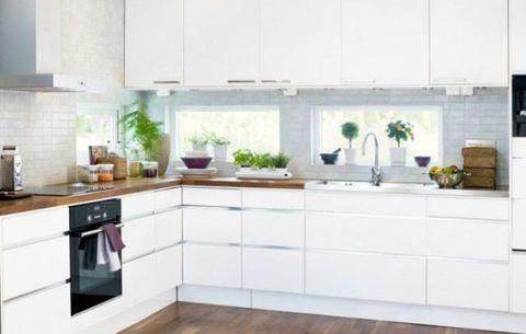 Property, Room, White, Floor, Tap, Kitchen, Interior design, Glass, Flooring, Interior design,