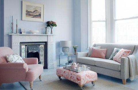 Blue, Room, Interior design, Living room, Floor, Home, Wall, Furniture, White, Flooring,