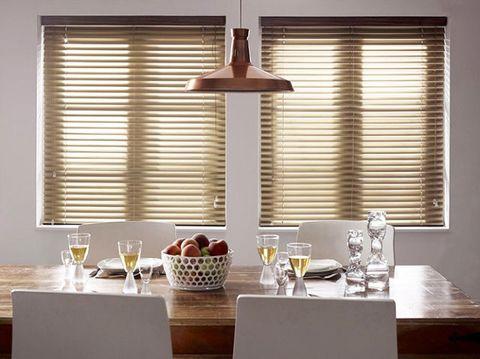 Glass, Interior design, Room, Table, Serveware, Furniture, Drinkware, Window covering, Tableware, Window treatment,