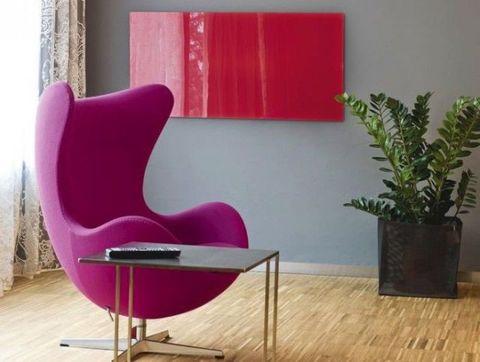 Flowerpot, Magenta, Floor, Pink, Purple, Flooring, Hardwood, Chair, Houseplant, Wood flooring,