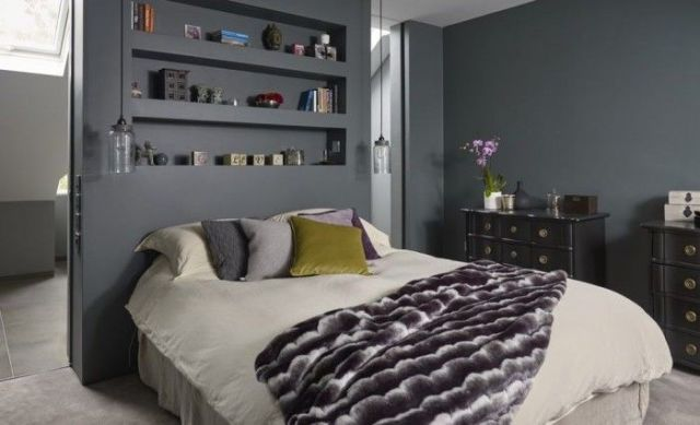 This Luxurious Grey Bedroom Opens Into A Stunning Ensuite