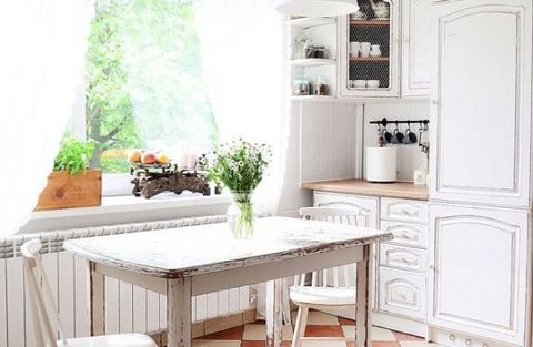 How to give dated kitchen cupboards a country chic new look