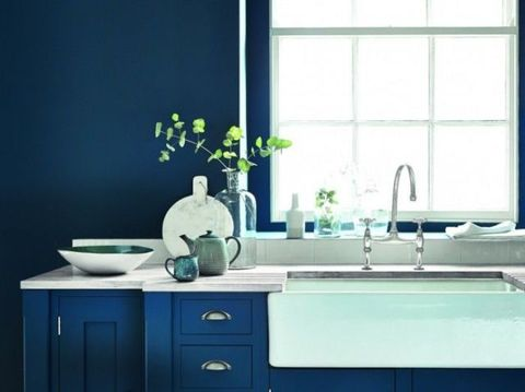 Blue, Green, Room, Window, Plumbing fixture, Interior design, White, Tap, Glass, Drawer,