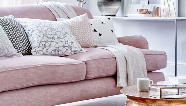 Etonnant Pink And Grey Living Room