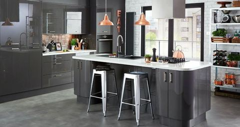 Kitchen Colour Schemes - Colour schemes for grey kitchen units