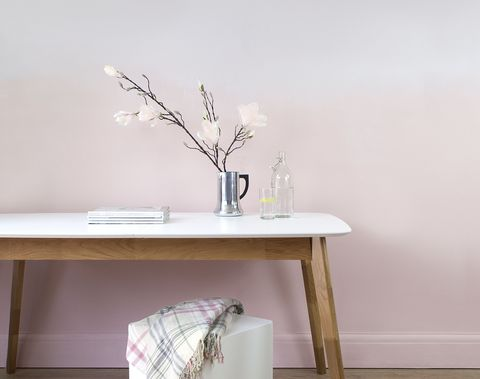 Pale Pink Ombre Wall