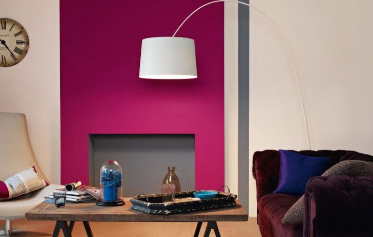 Feature Wall Bright Paint Colour