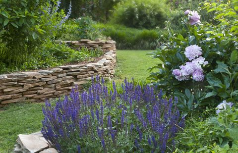 garden design ideas planting and paving - Garden Design Ideas