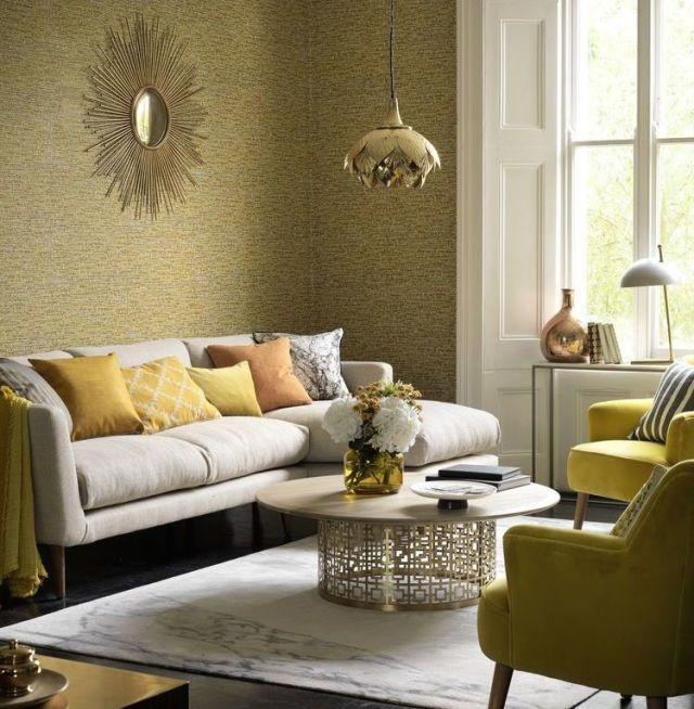 30 inspirational living room ideas living room design for Fancy wallpaper for living room