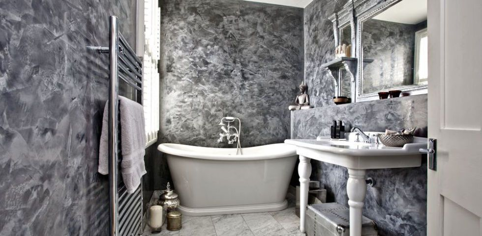 traditional-bathroom-makeover & This small traditional bathroom is big on wow factor!