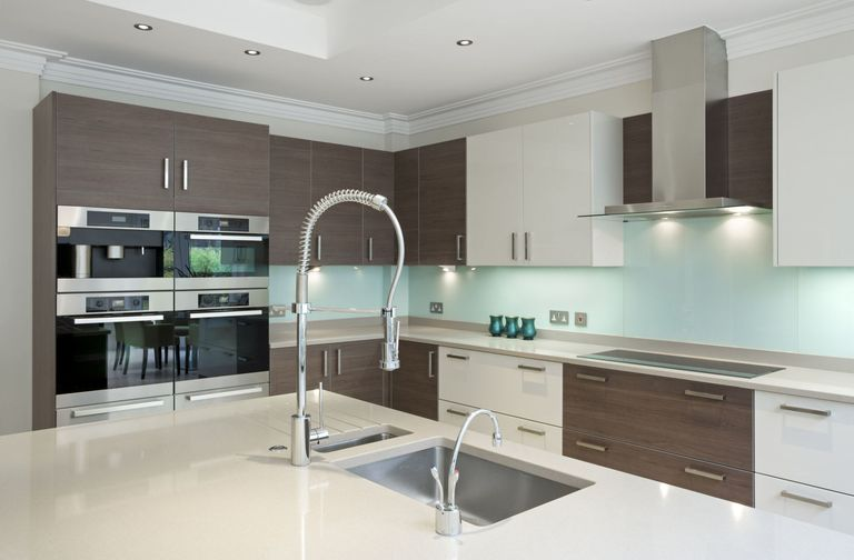 Modern kitchen interior with two tone design How to decorate your  trends colour scheme and style