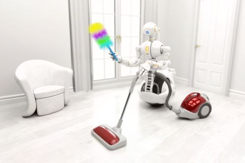 Robot cleaning in the home