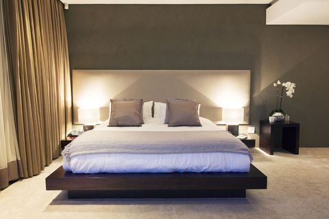 Modern bedroom with lighting