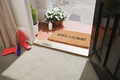 Welcome sign coir doormat
