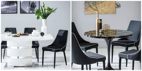Art Deco Mila table, Modena Chairs and Komoro table from Furniture Choice