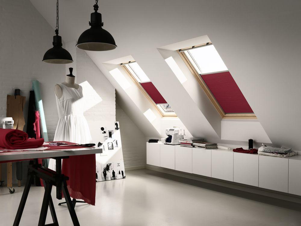 Velux blinds in attic