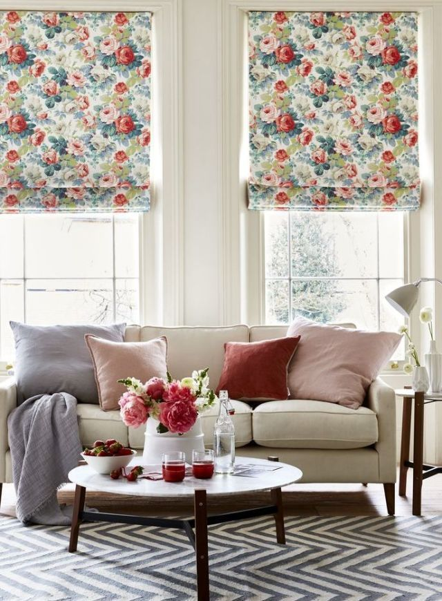 Floral Living Room Summer Decoration Scheme, House Beautiful